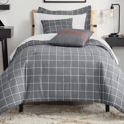 Styles Windowpane Bed in a Bag Comforter Set with Sheets and Decorative Pillows