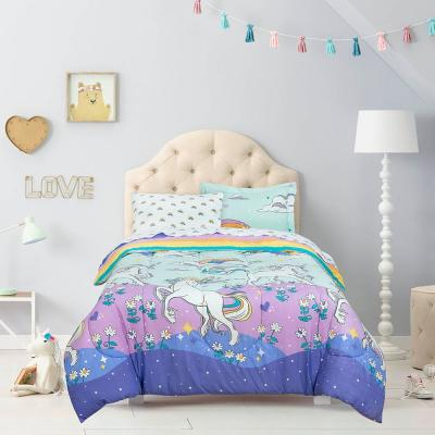 Magical Unicorn Multi color Bed in a Bag with Reversible Comforter