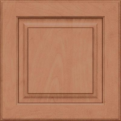 15x15 in. Cabinet Door Sample in Piermont Maple Square with Ginger