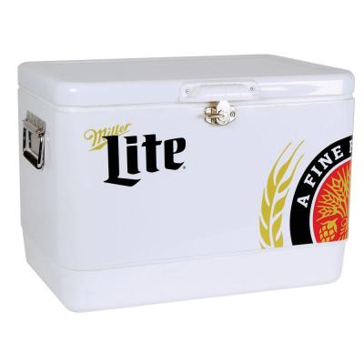 54 Qt. Stainless Steel Miller Lite Ice Chest Cooler