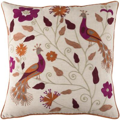 Gaspero Floral Polyester Throw Pillow