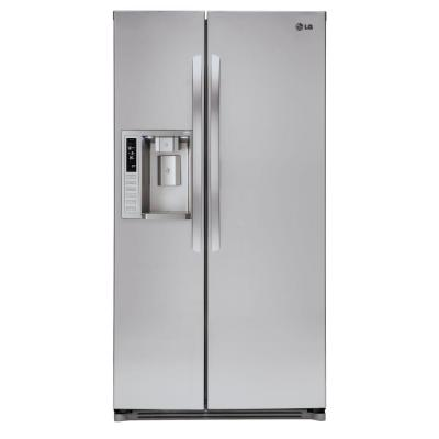LG Electronics 26.5 cu. ft. Side by Side Refrigerator in Stainless Steel