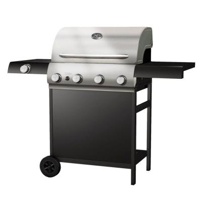 Aussie 4-Burner Propane Gas Grill with Side Burner