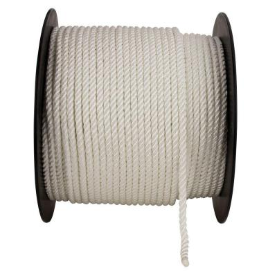 5/8 in. x 1 ft. White Twisted Nylon Rope