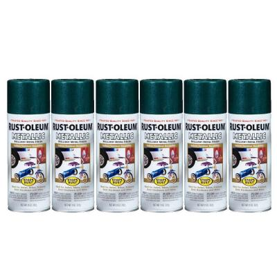 Rust-Oleum Stops Rust 11 oz. Gloss Racing Green Metallic Spray Paint (6-Pack)-DISCONTINUED