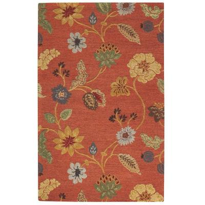 Home Decorators Collection Portico Red 8 ft. x 11 ft. Area Rug