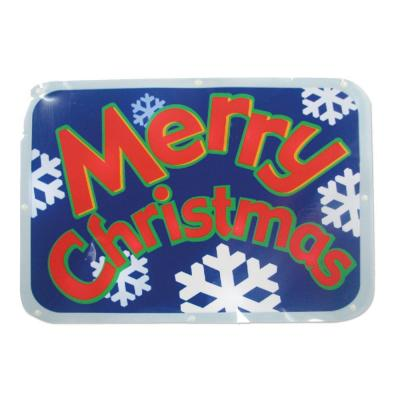 "Brite Star Battery-Operated 16 in. LED Light Show Window Sign ""Merry Christmas"""