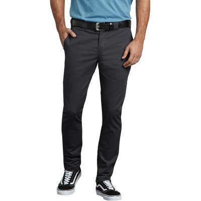 Men's Black FLEX Slim Skinny Fit Twill Work Pant