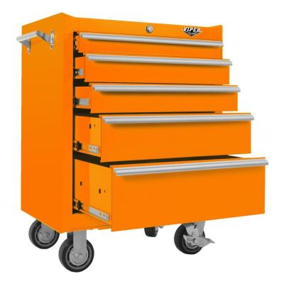 Viper Tool Storage 26 in. 5-Drawer Cabinet in Orange