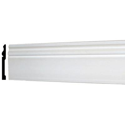 WM 163E 5-5/8 in. x 1/2 in. x 96 in. Plain Recycled Polystyrene Base Moulding Product Photo