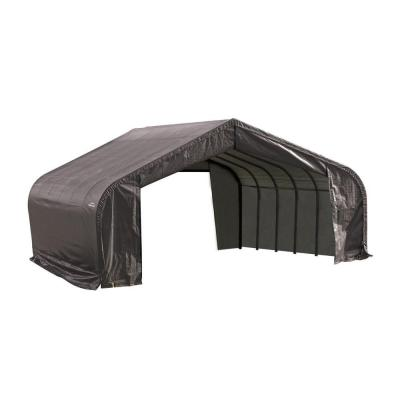 ShelterLogic 22 ft. x 36 ft. x 11 ft. Grey Cover Peak Style Shelter - DISCONTINUED