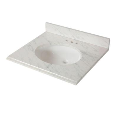 St. Paul 25 in. x 22 in. Stone Effects Vanity Top with Basin in Cascade