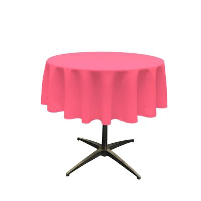 58  in. Round Polyester Poplin Tablecloth