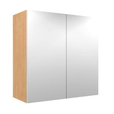 Home Decorators Collection 24x38x12 in. Salerno Wall Cabinet with Chrome Pull-Down Shelves and 2 Soft Close Doors in Polar White
