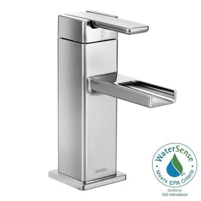 90-Degree Single Hole 1-Handle Mid-Arc Lavatory Faucet in Chrome Product Photo