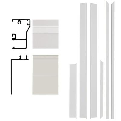 Remodel 4-9/16 in. x 1-1/4 in. x 84 in. Aluminum Entry Door Frame Clad Kit with Brickmould Product Photo