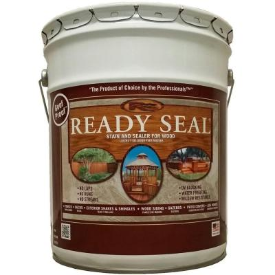 READY SEAL 5 gal. Dark Walnut Exterior Wood Stain and Sealer