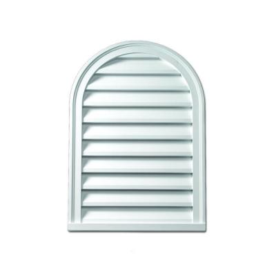 22 in. x 31-1/2 in. x 2 in. Polyurethane Functional Cathedral Louver Gable Vent Product Photo