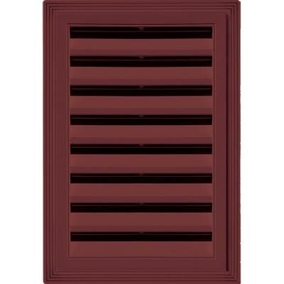 12 in. x 18 in. Rectangle Gable Vent #078 Wineberry Product Photo