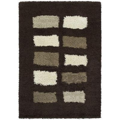 United Weavers Overstock Marley Chocolate 7 ft. 10 in. x 10 ft. 6 in. Contemporary Area Rug