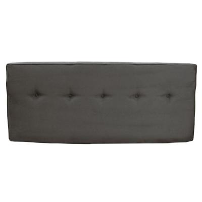 SoHo Charcoal Microsuede Queen Headboard with Five Buttons