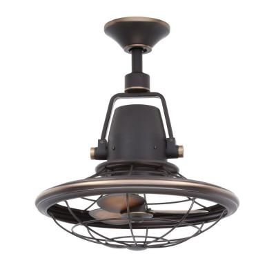 Home Decorators Collection Bentley II 18.90 in. Outdoor Tarnished Bronze Oscillating Ceiling Fan with Wall Control