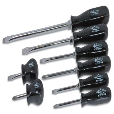 k tool international black philips and slotted screwdriver set 8 piece kti19000 the home depot. Black Bedroom Furniture Sets. Home Design Ideas