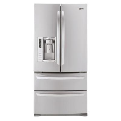 LG Electronics 33 in. W 24.7 cu. ft. French Door Refrigerator in Stainless Steel