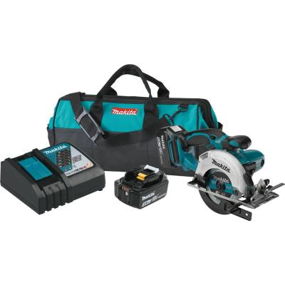 Makita 18-Volt 5.0Ah LXT Lithium-Ion Cordless 5-3/8 in. Circular Trim Saw Kit