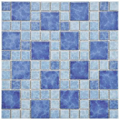 Watersplash Versailles Adriatic 11-3/4 in. x 11-3/4 in. x 6 mm Porcelain Mosaic Floor and Wall Tile Product Photo