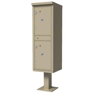 Florence Valiant Outdoor Parcel Locker (OPL) with 2 Lockers in Sandstone