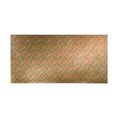 96 in. x 48 in. Quilted Decorative Wall Panel in Copper