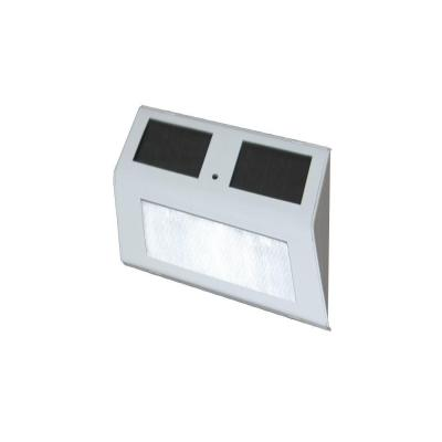 5 in. x 3 in. Solar Powered White Stair Light (2-Pack)
