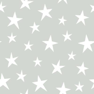 30.75 sq. ft. Grey Stardust Peel and Stick Wallpaper