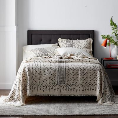 OP Dot Abstract Cotton Woven Fringed Edge Blanket