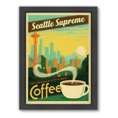 "Americanflat 27 in. x 21 in. ""Seattle Supreme"" by Joel Anderson Framed Wall Art"