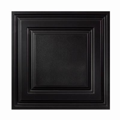 Genesis 2 ft. x 2 ft. Icon Relief Black Ceiling Tile