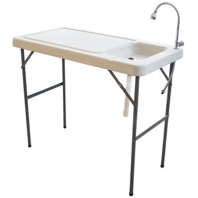 Sportsman Folding Fish Table with Game Table with Faucet