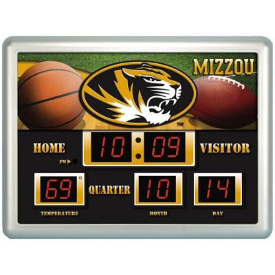 null University of Missiouri 14 in. x 19 in. Scoreboard Clock with Temperature