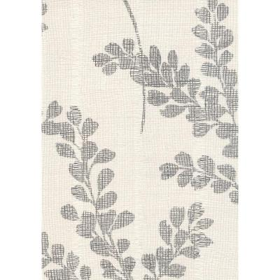 null 56 sq. ft. Branches with Leaves on a Scrim Background Wallpaper