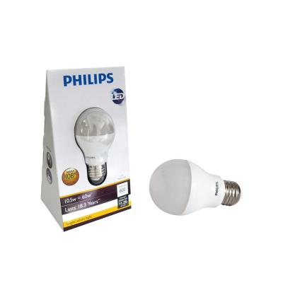 Philips 10.5-Watt (60-Watt) A19 Bright White (3000K) Household LED Light Bulb (4-Pack) 420240