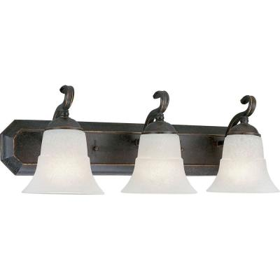Progress Lighting Melbourne Collection Espresso 3-light Vanity Fixture P3023-84