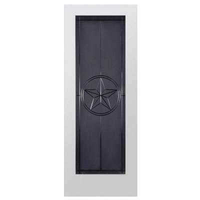 Steves & Sons Texas Star Full Lite Solid Core Pine Obscure Glass Interior Door Slab