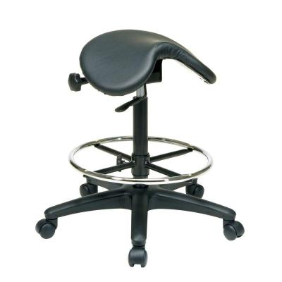 Pneumatic Drafting Chair in Black