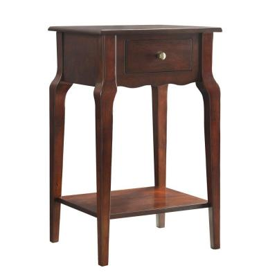 Lisette 1-Drawer Espresso Accent Table Product Photo