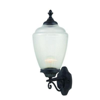 Acclaim Lighting Acorn Collection Wall-Mount 1-Light Outdoor Matte Black Fixture
