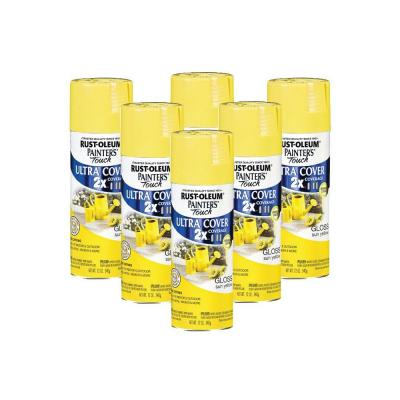 Painter's Touch 12 oz. Gloss Sun Yellow Spray Paint (6-Pack)-DISCONTINUED