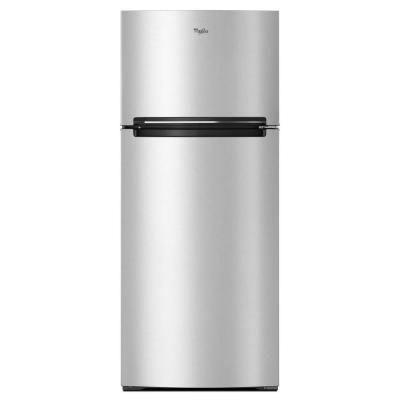Whirlpool 28 in. W 17.6 cu. ft. Top Freezer Refrigerator in Stainless Steel