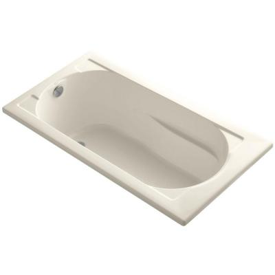 Devonshire 5 ft. Reversible Drain Soaking Tub in Almond with Bask Heated Surface Product Photo