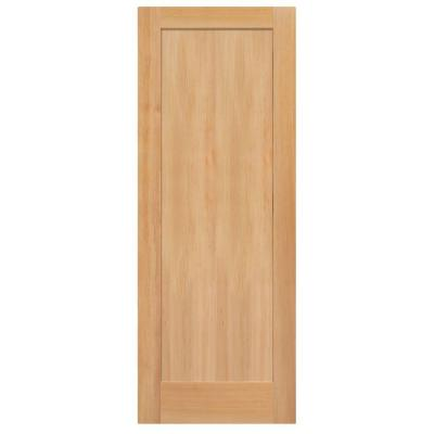 Masonite 1 panel shaker flat panel fir veneer solid wood interior door slab 81973 the home depot for Solid wood interior doors home depot